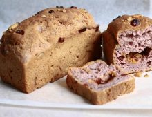 Purple Yam Loaf with Dried Fruits